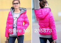 Free shipping, -13 years of the new winter coat glossy ladies casual long-sleeved cotton padded hooded jacket