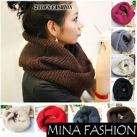 New hot! Unisex Winter knitting Wool Collar Neck Warmer Scarf Shawl Freeshipping