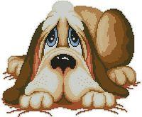 free shipping DIY unfinished cross stitch kit animal dog Dmc   lapdog ZA-G035