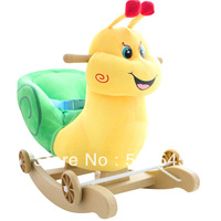 Child educational toys snail dual rocking horse trojan rollaround horse musical safety belt
