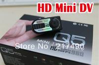 Free Shipping Original Q5 1280*960P 30fps thumb HD Mini DV Camera 1200 Mega Pixels Metal Alloy