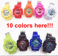 10pcs/lot Free Shipping  Multifunction G A110 Sports Watches Men GA110 Digital Military Watches Waterproof  NO Anti- Shocked Box