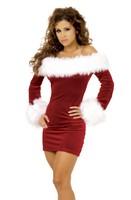 Free shipping Cute sexy Christmas dress sexy Christmas dress Christmas party costume dress Christmas play festival dress