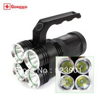 High Power 4 XM-L T6 Led Glare Flashlight Bicycle Headlight Hiking Camping Fishing Light Portable Miner Torch Headlamp