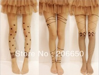 2pcs/lot 2013 new styles FREE SHIPPING Sexy  Tattoo Socks 20D Tattoo Pantyhose Stockings(mix style 3) ,mix styles are allowed