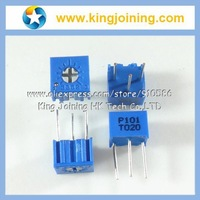 Trimming Potentiometer 3362P 100R 101 Trimmer Resistors 3362 Variable Resistors 100 ohm 100pcs