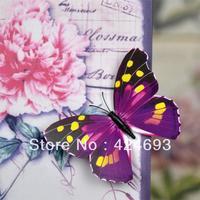 30pcs/lot 12cm 3D Artificial Butterfly  Fridge Magnet for Home decor Christmas Wedding Decoration