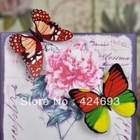 30pcs/lot 6cm 3D Artificial Butterfly  Fridge Magnet for Home decor Christmas Wedding Decoration