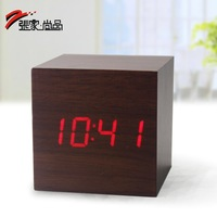 Mini wooden alarm clock led clock ectronic alarm clock electronic clock
