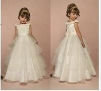 Female child  princess  wedding dress performance wear child design long evening dress white