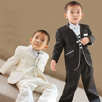 Children's clothing male child formal dress set autumn and winter suit top vest shirt trousers bow tie 0100