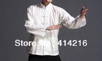 Bruce lee white linen uniforms clothing wing chun Chinese kung fu  Martial arts jacket base shirts