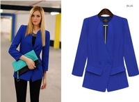 Fast Shipping Wholesale TUBE 2013 Fashion Austumn Out Wear Short  Suits Slim Three Quarter Blazer For Women