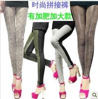 new 2014  big size leggings woman leather stretch leggings plus size woman