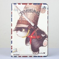 "New 7.9"" Character Folding Stand Leather Case for ipad mini retro Pirate cat Smart Cover Case For apple ipad mini Free Shipping"