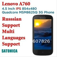 SG Post Free Shipping Lenovo A660 A760 Android Phone MSM8225Q Quad Core Phones 3G GPS Dual Sim 50 Languages Russian Spanish etc