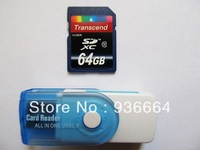 Free Shipping 32GB 64GB SDHC Transcend SD Card Class 10 INC USB 2 0 Card Reader