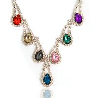 Free shipping Wholesale -2013 Retro luxury gem  drop necklace wedding jewelry sweater chain