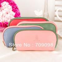 Free shipping sunshine fahsion lady leather pencil bag Pu leather bag Cosmetic bag Makeup bag wholesale