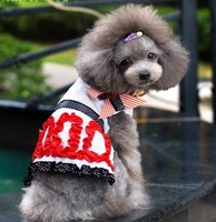 ABBY Yibi Ou Mei wind small literary dress pet clothes dog clothes Free shipping