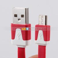2PCS Micro USB Data Cable i9100 i9300 n7100 i9500 Phone MP3 MP4 Mobile Power Charging Line