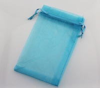 100pcs Turquoise organza bag gift packing pouch  jewelry wrapping bags accessory pouch 17X23CM (7''X9'')
