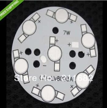 wholesale 50pcs/lot Led radiator Diameter 50mm For 7x1W High Power LED Aluminum Base Plate Led heat sink Diameter