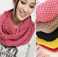 Free shipping 200PCS/Lot  Wholesale winter solid color scarf winter knitted collar wool yarn Candy color muffler scarf