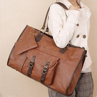 50 2 Colors 2013 Hot Sale  Women PU Leather Purse Handbag Shoulders Bag Tote Messenger Bag YNB076