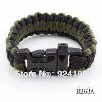 Wholesale Survival Bracelet Parachute Cord Emergency Paracord Camping Bracelet with Whistle Buckle