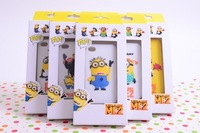 2013 Cute Cartoon Despicable Me Minion Soft Silicone Silicon Back Cases Cover For Apple Iphone 5 5G ,10pcs free shipping!