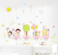 New arrival eco-friendly wall stickers cartoon child real decoration sticker  Free Shipping