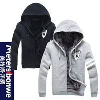 2013 Korean version of sweater Hooded institute wind crocodile Class Clothing Men's cotton fleece sweater thick sweater