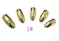 Free shipping ,8 colors,2013 HOT Minx Acrylic Shiny Metallic Sliver Gold Full Cover Finger 3D Nail Art Tips,70pcs/set 3sets/lot