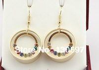 circle earrings boutigue free shipping  DOUBLE LAYER  RHINESTONE