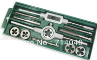 Hand Threading M6~M12 tap die set, metric dies thread tap tool set, 12 pc kit