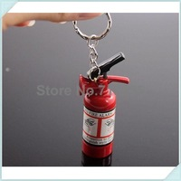 Free Shipping 20pcs/lot Mini Fire Extinguisher Lighter KeyChain Butane Lighters With Key Ring (Without Gas)