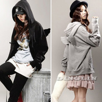 Fashion Women's Hoody Long Sleeve Angel Wing Back Zipper Casual Women Hoodies Sport Suit Tracksuit Clothing Free Shipping 0139