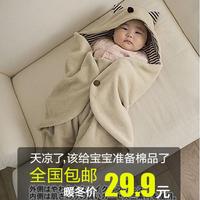 Newborn holds anti tipi autumn and winter thickening 100% cotton baby sleeping bag child baby supplies