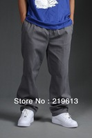 2013 Spring & Autumn new plus size fashion casual pants for men, men's large fat cotton pants sale gray black 3xl 4xl 5xl 6xl