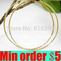 60/70/80/90/100mm Gold/Silver Plated Basketball Wives Big Hoops Earrings Big Circle Loops Earrings