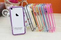 TPU Bumper for iphone 5c Bumper cover case For iPhone 5c free shipping 20pcs/lot