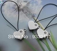 Wholesale DIY Accessories 50pcs 8mm Heart Head clasp Slide Charms