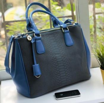 New arrival,Fashion 2013 crocodile pattern fashionable casual vintage document handbag one shoulder big bag female bags YHZ322