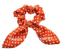 10pcs/lot Women's Fashion Hair Accessories, Fashion Red Spotty Dot Bun Tie,Hair Scrunchies