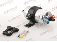 External Fuel Pump 044 for Bosch+Billet Bracket Black+10AN Inlet 8AN Outlet BLK