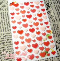 Love heart sponge quality tapirs fabric mobile phone decoration sticker