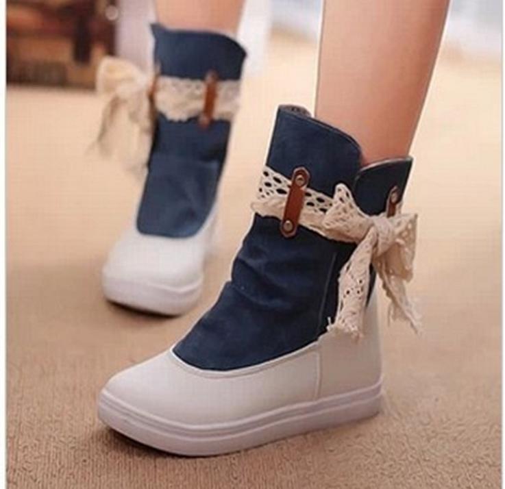 Korean Shoes High Tops Girls High-top Canvas Women Girl