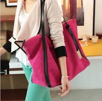 Fashion scrub suede women's handbag vintage big bags brief shopping bag shoulder bag portable