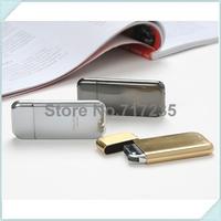 Free Shipping 10pcs/lot Ultrathin Lighter Electroplate Metal Flint Flame Smoking Butane Gas  Refillable Lighter